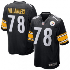 Alejandro Villanueva Pittsburgh Steelers Game Jersey - Black/White