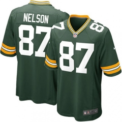 Jordy Nelson Green Bay Packers Game Jersey - Green/White/Navy