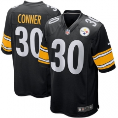 James Conner Pittsburgh Steelers Game Jersey - Black/White