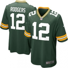 Aaron Rodgers Green Bay Packers Game Jersey - Green/White/Navy