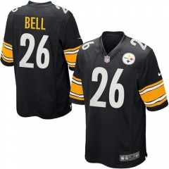 Le'Veon Bell Pittsburgh Steelers Game Jersey - Black/White