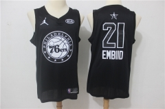 Joel Embiid #21 Nike 2018 NBA All-Star Edition Swingman Jersey -Black/White