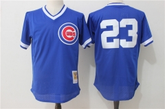 Ryne Sandberg #23 Chicago Cubs Mitchell & Ness Cooperstown Authentic Collection Throwback Replica Jersey - Blue