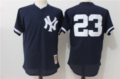 Don Mattingly #23 New York Yankees Mitchell & Ness 1995 Authentic Cooperstown Collection Mesh Batting Practice Jersey - Navy