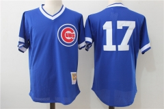 Kris Bryant #17 Chicago Cubs Mitchell & Ness  Cooperstown Authentic Collection Throwback Replica Jersey - Blue