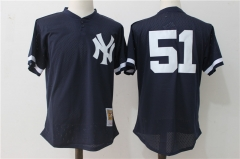 Bernie Williams #51 New York Yankees Mitchell & Ness 1995 Authentic Cooperstown Collection Mesh Batting Practice Jersey - Navy