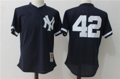 Mariano Rivera #42 New York Yankees Mitchell & Ness 1995 Authentic Cooperstown Collection Mesh Batting Practice Jersey - Navy