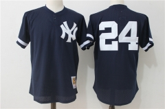 Gary Sanchez #24 New York Yankees Mitchell & Ness 1995 Authentic Cooperstown Collection Mesh Batting Practice Jersey - Navy