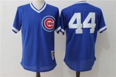 Anthony Rizzo #44 Chicago Cubs Mitchell & Ness  Cooperstown Authentic Collection Throwback Replica Jersey - Blue