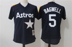 Jeff Bagwell #5 Houston Astros Mitchell & Ness Cooperstown Mesh Batting Practice Jersey - Navy