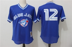 Roberto Alomar #12 Toronto Blue Jays Cooperstown Collection Mesh Batting Practice Jersey - Blue