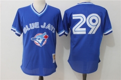 Joe Carter #29 Toronto Blue Jays 1993 Authentic Cooperstown Collection Mesh Batting Practice Jersey - Blue