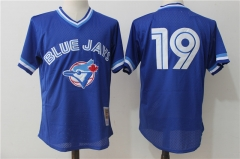 Jose Bautista #19 Toronto Blue Jays Cooperstown Collection Mesh Batting Practice Jersey - Blue