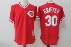 Ken Griffey Jr. #30 Cincinnati Reds Mitchell & Ness Cooperstown Mesh Batting Practice Jersey - Red