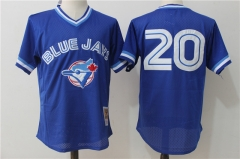 Josh Donaldson #20 Toronto Blue Jays Cooperstown Collection Mesh Batting Practice Jersey - Blue