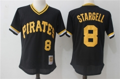 Willie Stargell #8 Pittsburgh Pirates Mitchell & Ness 1982 Cooperstown Collection Authentic Practice Jersey - Black