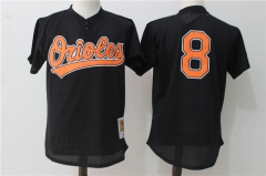 Cal Ripken Jr #8 Baltimore Orioles Mitchell & Ness Cooperstown Mesh Batting Practice Jersey - Black/White