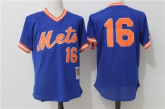 Dwight Gooden #16 New York Mets Mitchell & Ness Cooperstown Mesh Batting Practice Jersey - Blue