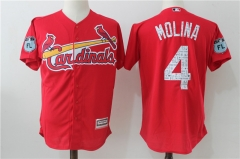 Yadier Molina #4 St. Louis Cardinals Majestic 2017 Spring Training Cool Base Player Jersey - Red