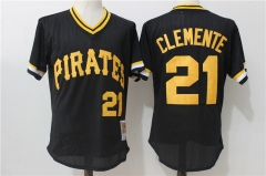 Roberto Clemente #21 Pittsburgh Pirates Mitchell & Ness Cooperstown Collection Authentic Practice Jersey - Black