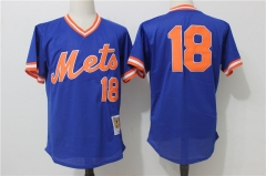 Darryl Strawberry #18 New York Mets Mitchell & Ness Cooperstown Mesh Batting Practice Jersey - Blue