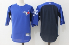 Josh Donaldson #20 Toronto Blue Jays Majestic Authentic Collection On-Field 3/4-Sleeve Player Batting Practice Jersey - Blue