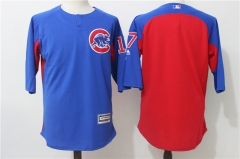 Kris Bryant #17 Chicago Cubs Majestic Authentic Collection On-Field 3/4-Sleeve Player Batting Practice Jersey - Blue