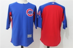 Anthony Rizz #44 Chicago Cubs Majestic Authentic Collection On-Field 3/4-Sleeve Player Batting Practice Jersey - Blue