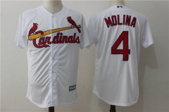 Yadier Molina #4 St. Louis Cardinals Majestic Cool Base Player Jersey - White/Cream/Red/Gray