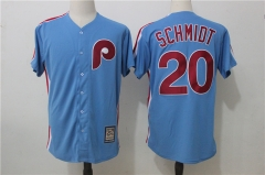 Mike Schmidt #20 Philadelphia Phillies Majestic Cooperstown Player Cool Base Jersey - Blue