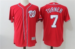 Trea Turner #7 Washington Nationals Majestic Cool Base Player Jersey - Red/Navy/White