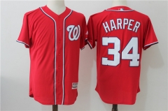 Bryce Harper #34 Washington Nationals Majestic Cool Base Player Jersey - Red/Navy/White