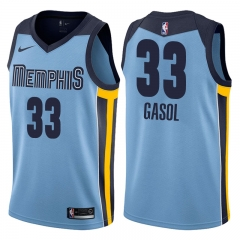 Marc Gasol #33 Nike Memphis Grizzlies Statement Swingman Jersey - Blue