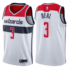 Bradley Beal  #3 Nike Washington Wizards Swingman Icon  Jersey - White/Red/Navy