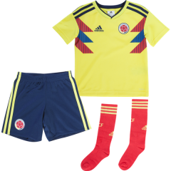 Youth Colombia Home Soccer Jersey Full Kits 2018 ,Jersey+Shorts+Sock