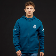 Real Madrid Blue Z.N.E Hoodie Jacket Suit 2017-2018