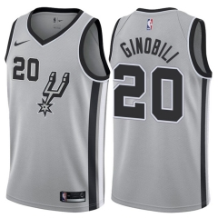 Manu Ginobili #20 Nike San Antonio Spurs Statement Swingman Jersey - Gray