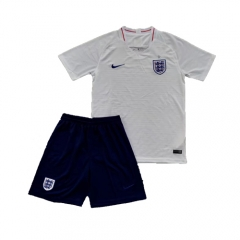 2018 World Cup England Home White Soccer Uniform