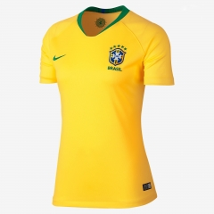 2018 Brazil Home Yellow Women's Soccer Shirt