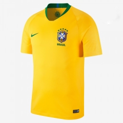 2018 World Cup Brazil Home Yellow Soccer Jersey