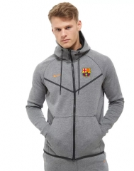 Barcelona Gray Hoodie Authentic Jacket 2018