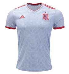 Player Version 2018 Spain Away Soccer Jersey Shirts