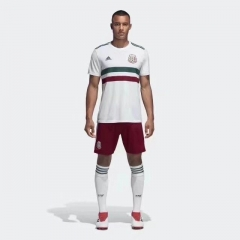 2018 World Cup Mexico Away White Soccer Uniform
