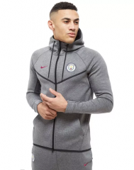 Manchester City Gray Hoodie Authentic Jacket 2018