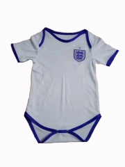 Baby England White Soccer Infant Crawl Suit 2018