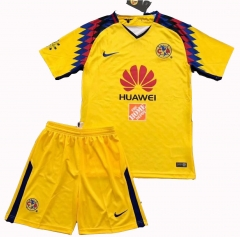 Club America Third Away Yellow Uniform 2018-2019 ,Jersey+Shorts