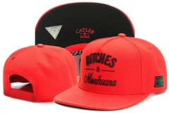 Men/Women Cayler Sons Snapback  Hat Street Caps-Red