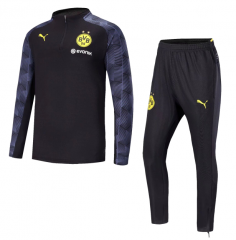 Borussia Dortmund 1/4 Zip Squad Black Training Suit 2018