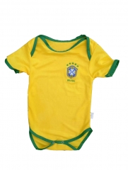 Baby Brazil Yellow Soccer Infant Crawl Suit 2018