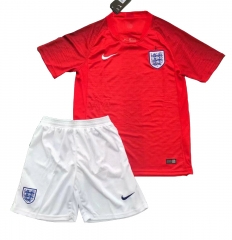 2018 World Cup England Away Red Soccer Uniform